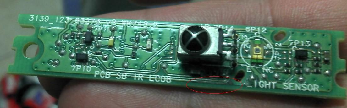 飞利浦电视机遥控接收模块质量问题