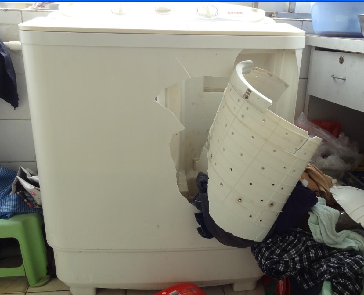 三洋洗衣机爆炸且引发事故
