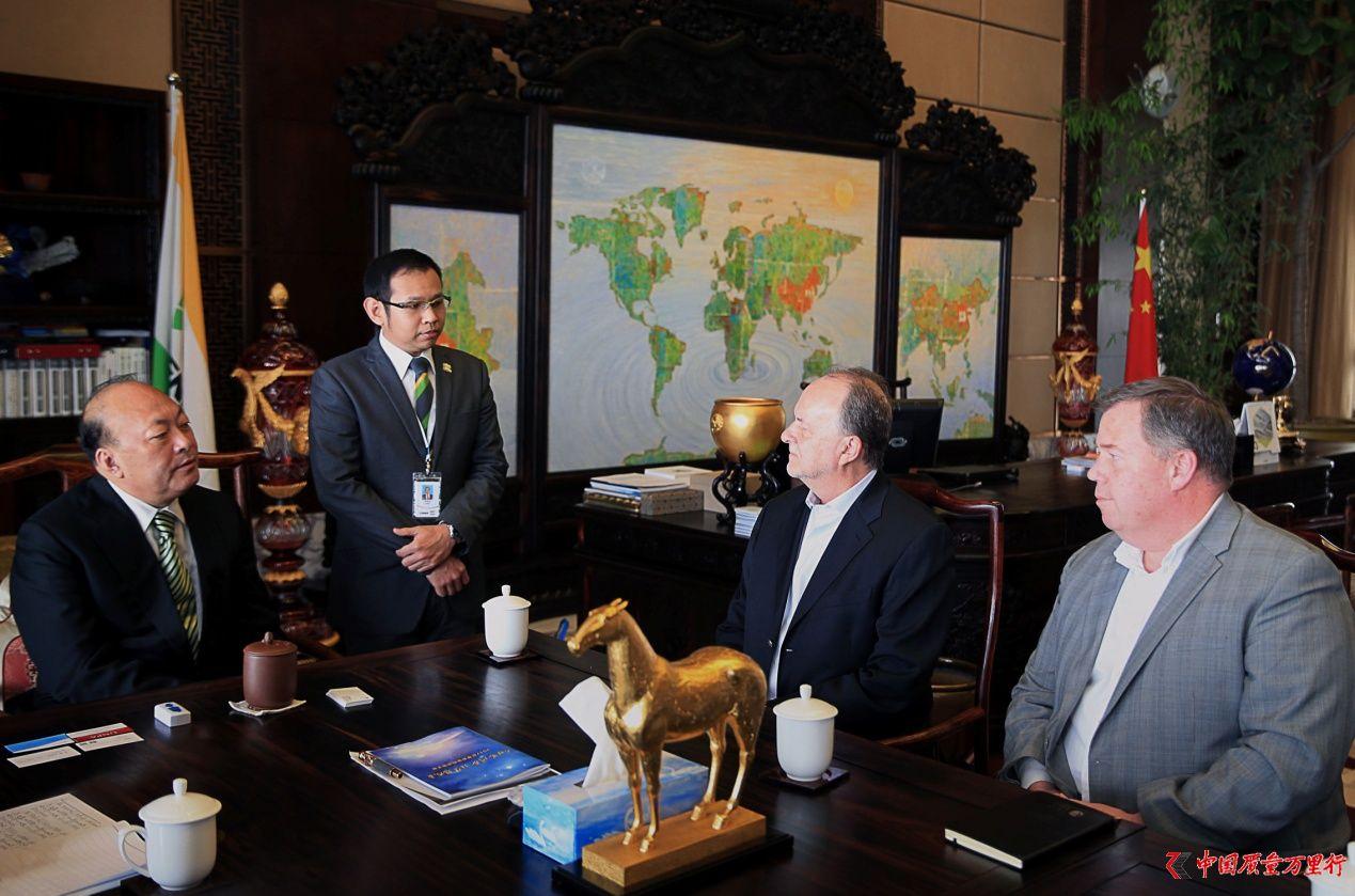 美国天然产品联盟主席莅临天狮集团交流访问