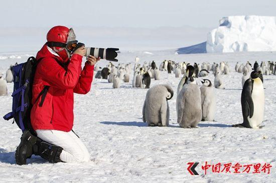 南极点与帝企鹅有约。HHtravel鸿鹄逸游供图