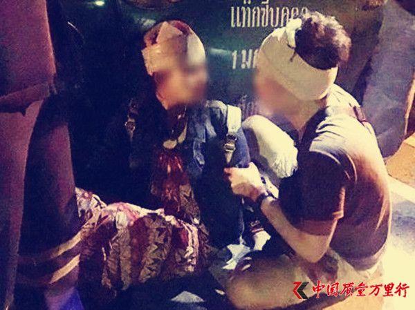 两中国游客在泰国遭持刀抢劫被毁容 劫匪:砍错人
