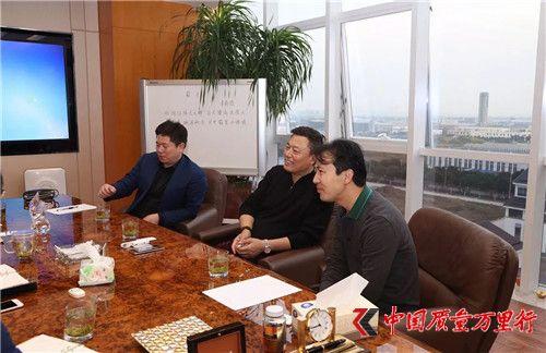 青岛康尔董事长邹圣灿先生莅临绿叶参观访问
