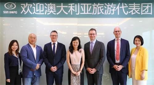 澳大利亚国家旅游局访问中国・尚赫陈�F君执行长