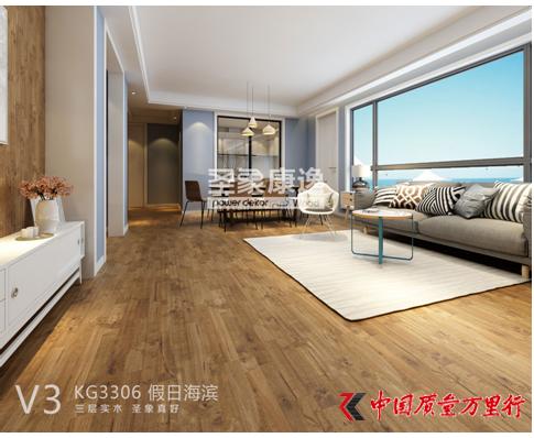 时尚设计师说:三拼花三层实木地板成热选