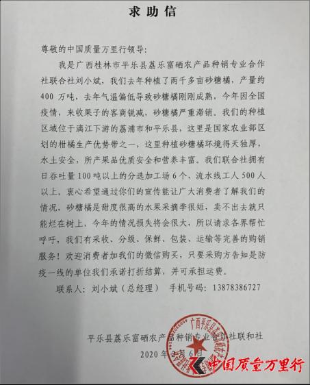 因疫情滞销:桂林平乐400万吨砂糖橘急需社会援手