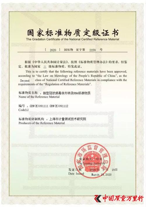 """重磅!上海研制的""""新冠病毒核酸标准物质""""获国家批准"""