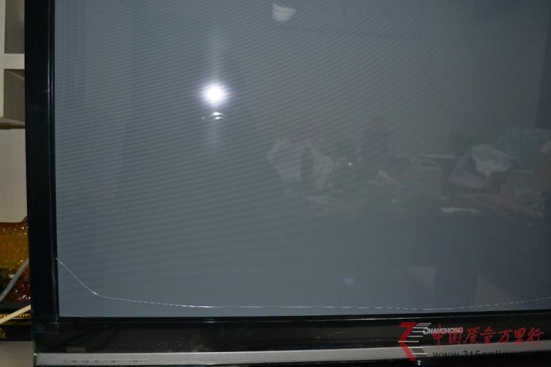 在京东上买的长虹电视 收到后屏幕破碎