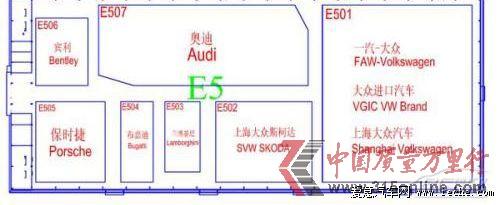 2014北京车展展馆分布图发布 9大车型馆