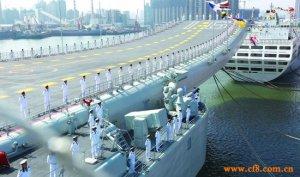 中国第二艘航母正在上海建造 预计年底下水(图)